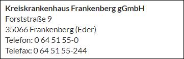 gezondheidszorg in Frankenau