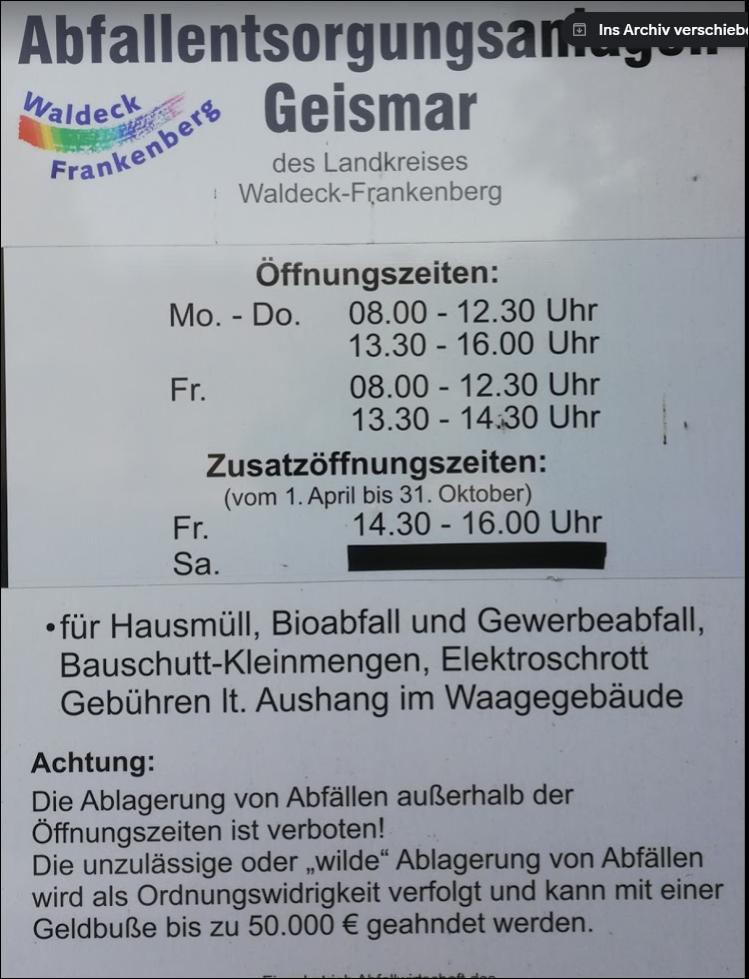 afvalstation Geismar