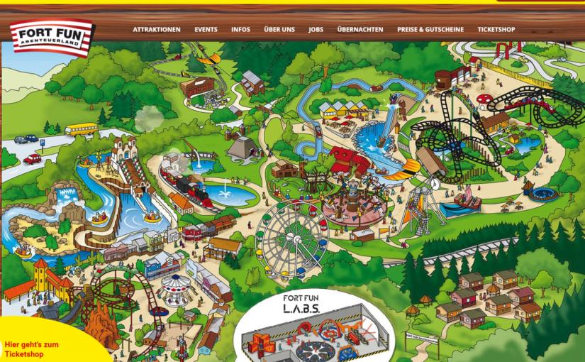 Veel attracties in Fort Fun