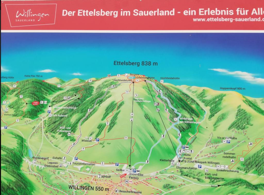 Willingen, de ettelsberg 838 m.